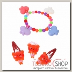 Набор детский Выбражулька 4 предмета: 2 заколки МИКС, браслет, кольцо Бабочки, цвет МИКС - бижутерия