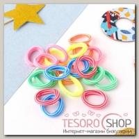 Резинка для волос Махрушка спорт (набор 100 шт) 2,5 см, полоски разноцветные - бижутерия