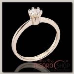 Кольцо Шолемо, размер 16, цвет белый в золоте