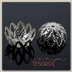 Шапочки для бусин (набор 10шт) СМ-042, цвет серебро