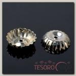 Шапочки для бусин (набор 20шт) СМ-049, цвет серебро