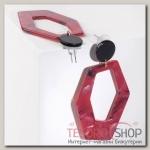 Серьги пластик Узор, цвет красно-чёрный - бижутерия