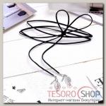 Чокер Пёрышки, цвет серебро 80 см (трансформер) - бижутерия