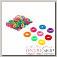 Резинки для волос Махрушка, разноцветные (набор 100 шт.), d = 2.5 см - бижутерия