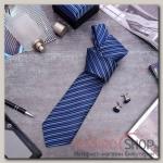 """Набор мужской """"Стиль"""" галстук 145x5см, запонки, линии, цвет темно-синий - бижутерия"""