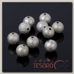 Кримп (зажимная бусина) СМ-434-5 (набор 10шт), 10мм, цвет серебро