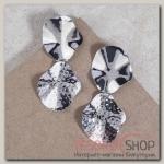 Серьги висячие Хаммурапи, цвет серебро - бижутерия