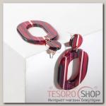 Серьги пластик Глянец, цветные с красными вставками - бижутерия
