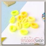 Резинка для волос Махрушка (набор 72 шт) 1,5 см, жёлтые оттенки - бижутерия