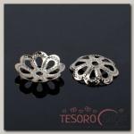 Шапочки для бусин (набор 50шт) СМ-061, цвет серебро