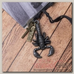 Кулон мужской Резон скорпион, цвет чернёное серебро на чёрном шнурке, 80 см - бижутерия