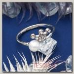 Кольцо Корона принцессы, цвет белый в серебре, размер 17,18,19 микс