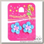 Клипсы детские Выбражулька цветочек с бантиком и ягодкой, цвет МИКС - бижутерия