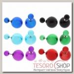 Серьги Диорис глянцевые, яркие, цвет МИКС - бижутерия