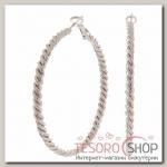 Серьги-кольца Крученый, цвет серебро, d=5,5см - бижутерия