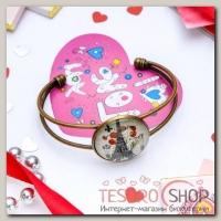 Набор браслет+открытка, Candy эйфелева башня, цветной - бижутерия