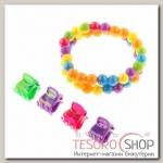 Набор детский Выбражулька 5 предметов: 4 крабика, браслет 2 нити, радуга, цвета МИКС - бижутерия
