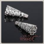 Шапочки для бусин (набор 10шт), СМ-103-1, цвет серебро