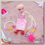 """Набор детский """"Выбражулька"""" 3 предмета: кукла, кулон, браслет, розочка, цвет МИКС - бижутерия"""