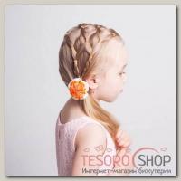 Набор двухцветных резинок для волос, жёлто-оранжевые, 1000 шт, - бижутерия