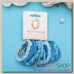 Резинка для волос Тофи (набор 22 шт) объём, голубые - бижутерия