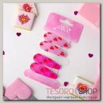 Невидимка для волос Ягодки (набор 4 шт) вишенки 5 см, розовый - бижутерия