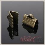 Зажим для ленты (набор 20шт) 10мм СМ-339, цвет бронзы