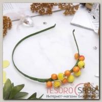 Ободок ручной работы Жёлтые ягоды - бижутерия