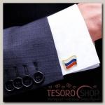 Запонки мужские Флаг РФ - бижутерия