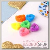 Резинка для волос Махрушка треугольнички 2 см (набор 50 шт) яркие - бижутерия