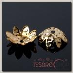 Шапочки для бусин (набор 50шт) СМ-013, цвет золото