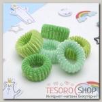 """Резинка для волос """"Махрушка"""" (набор 12 шт) 6 см зеленый - бижутерия"""
