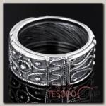 Кольцо Владелина, размер 19, цвет чернёного серебра