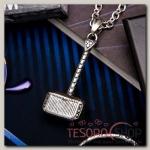 Кулон мужской Стальной молот тора, цвет серебро, 50 см - бижутерия