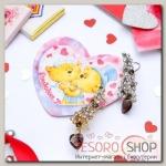 Серьга Каффа+открытка, цветение с сердцем, цвет МИКС - бижутерия