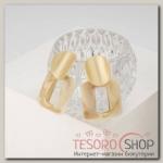 Серьги пластик Комильфо, цвет бежевый в золоте - бижутерия
