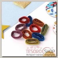 Резинка для волос Махрушка блеск (набор 100 шт) 2 см, разноцветные - бижутерия