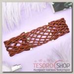 Чокер Ажур плетение, цвет коричневый - бижутерия