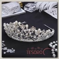 Диадема для волос Королева 6,5x24,5x16 см цветочная феерия - бижутерия