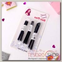 Шпилька для волос (набор 30 шт) 6 см, 7 см, 8 см, чёрный - бижутерия
