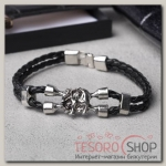 Браслет мужской Денджер слон, цвет чёрный в серебре - бижутерия