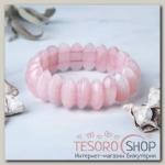 Браслет долька Кварц розовый - бижутерия