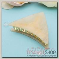 Краб для волос Версаль 9 см треугольник кремовый - бижутерия