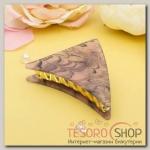 Краб для волос Версаль 9 см треугольник розовый - бижутерия