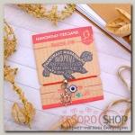 Браслет-оберег Нить желаний глазик и черепаха, цвет красный - бижутерия