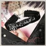 Чокер Вечеринка, цвет чёрный - бижутерия