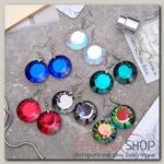 Серьги из стекла Яркий день круг, цвет МИКС - бижутерия