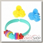 Набор детский Выбражулька 3 предмета: 2 крабика, браслет, бантик, цвет МИКС - бижутерия