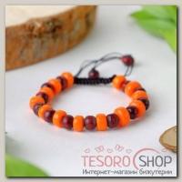 Браслет шамбала Дерево, цвет оранжево-коричневый - бижутерия