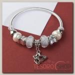 Браслет с жемчугом Марджери, подвеска МИКС, цвет серебристо-белый в серебре - бижутерия